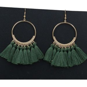 boho gypsy Tassel earrings